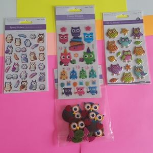 73 Different Owl Stickers